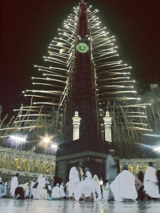 mecca_clock_tower_beams_light_night